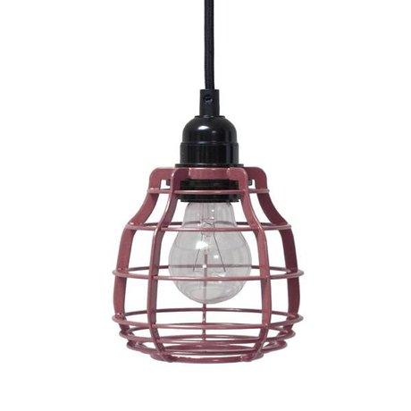 HK-living Kinderhanglamp LAB marsala met schakelaar metaal 13x13x17cm