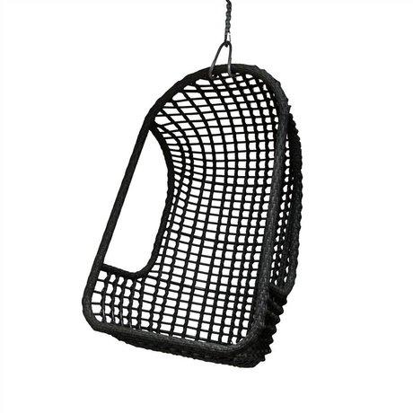 HK-living Kinderhangstoel zwart polyethyleen 77x55x110cm