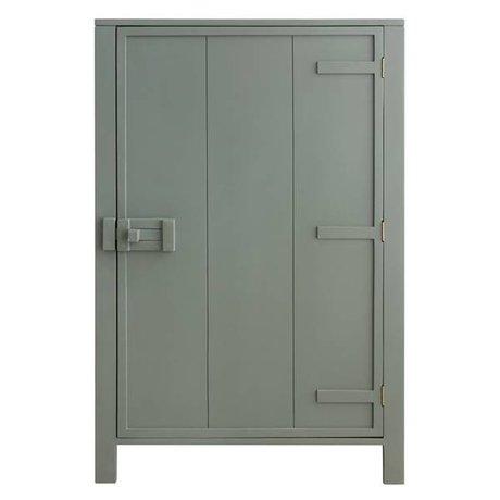 HK-living Kinderkast met enkele deur hout leger groen 81x36x122cm