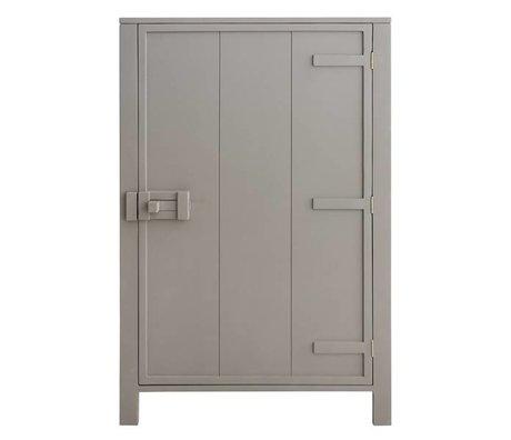 HK-living Kinderkast met enkele deur hout taupe bruin 81x36x122cm