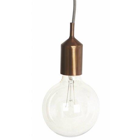 Housedoctor Sierstuk voor fitting, koper metaal 4.5x11cm, Cover for sockets Kant copper