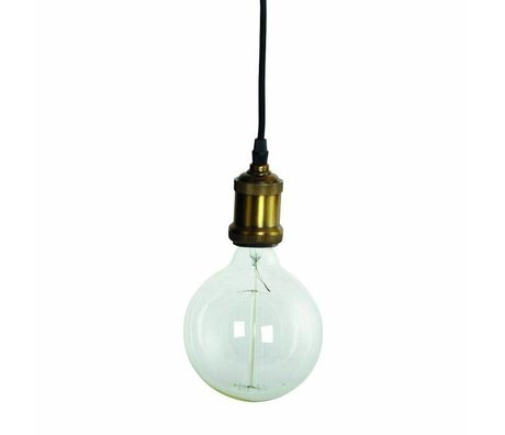 Housedoctor Kinderhanglamp Fly, brass gouden fitting met snoer 4,5x14cm