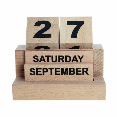 Housedoctor Kinderkalender Eternity houten blokken l12xb8xh10,5cm