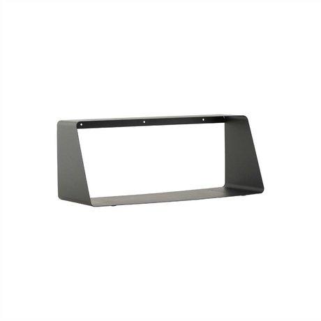 Housedoctor Wandplank ROOM zwart metaal 55x20/12x22cm