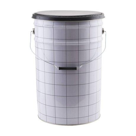 Housedoctor Kinderopbergerkist the bucket wit zwart 30x46cm