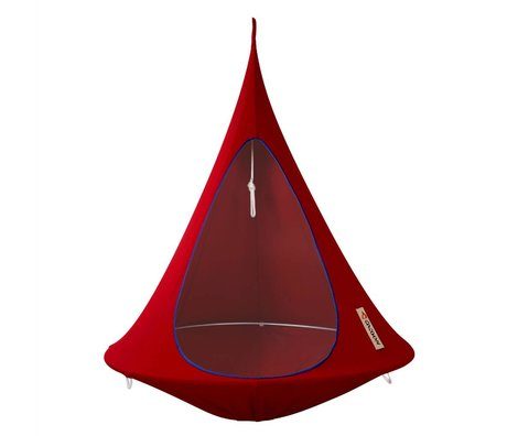 Cacoon Kinderhangstoel tent Single 1-persoons rood 150x150cm