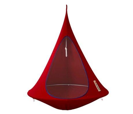Cacoon Kinderhangstoel tent Single 1-persoons rood 150x150cm