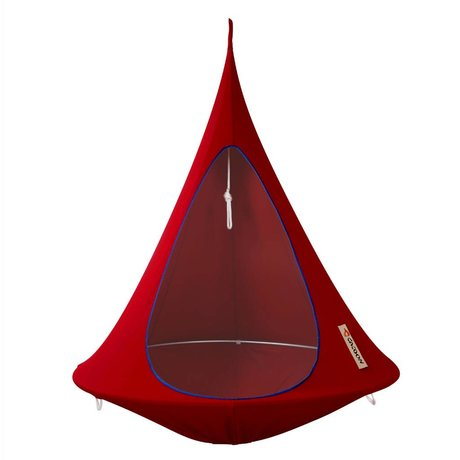 Cacoon Children Hangstoel tent Single 1 single red 150x150cm