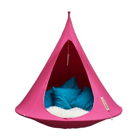 Cacoon Kinderhangstoel tent Single 1-persoons fuchsia roze 150x150cm