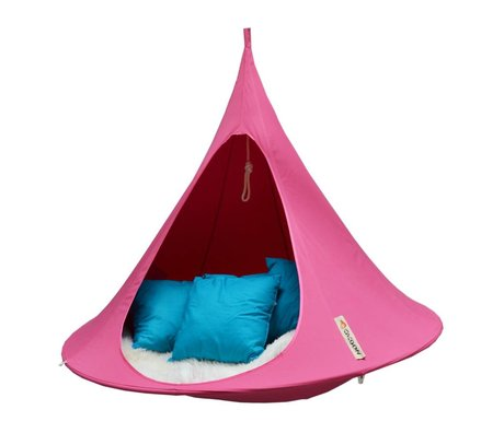 Cacoon Kinderhangstoel tent Double 2-persoons fuchsia roze 180x150cm