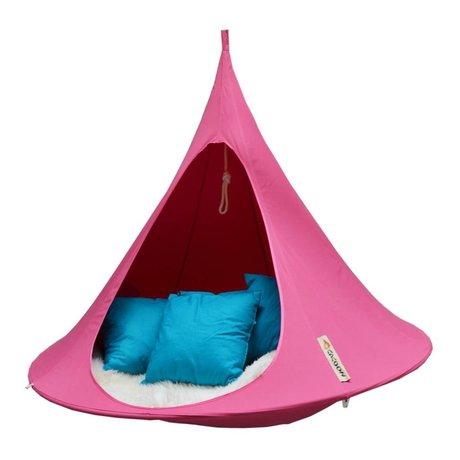 Cacoon Kinderhangstoel tent Double 2-persoons fuchsia roze 180x150cm