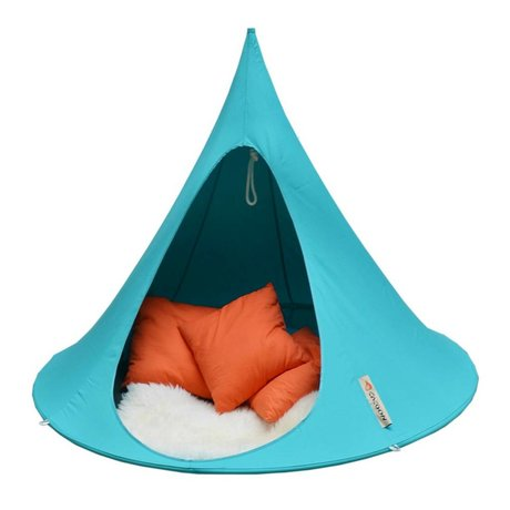 Cacoon Kinderhangstoel tent Double 2-persoons turquoise blauw 180x150cm