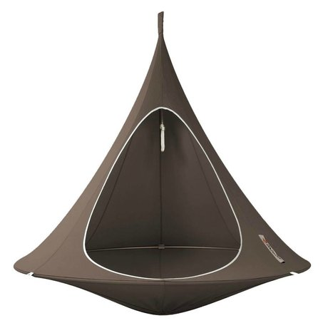 Cacoon Kinderhangstoel tent Double 2-persoons taupe bruin 180x150cm
