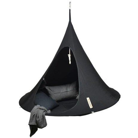 Cacoon Kinderhangstoel tent Double 2-persoons zwart 180x150cm