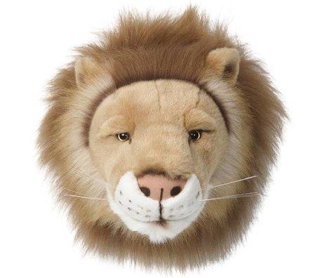 Wild & Soft Dierenkop leeuw Cesar bruin klein 27x21x22