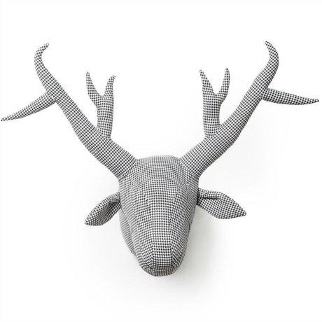 Wild & Soft Dierenkop Abstract het pied-de-joule James grijs 40x50x60