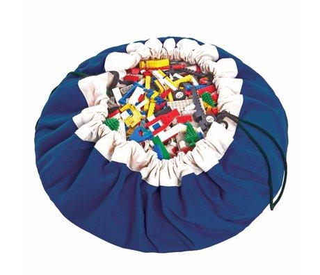 Play & Go Opbergzak/speelkleed Classic Blue blauw katoen ø140cm