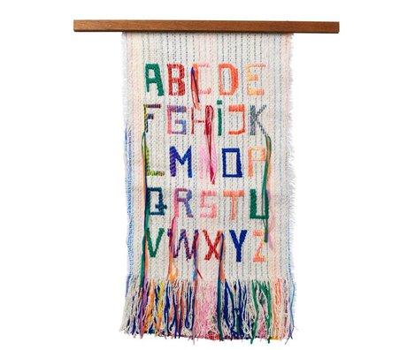 Ferm Living kids Kinderwandkleed ABC multicolour textiel hout 33x61cm