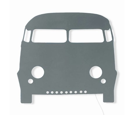 Ferm Living kids Children's wall lamp Car dark gray wood 27x22,5cm