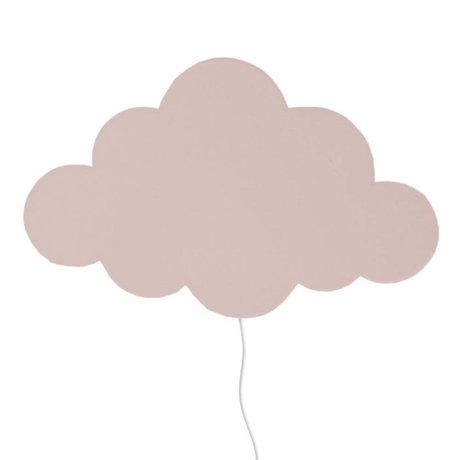 Ferm Living kids Kinderwandlamp wolk lichtroze hout 40x25cm