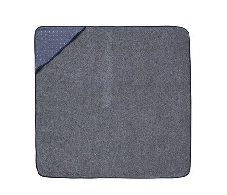 Ferm Living kids Baby Hooded Towel Sento blue cotton 98x98cm