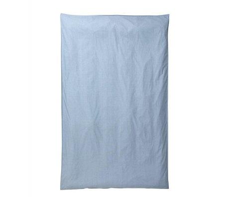 Ferm Living Kinderdekbedovertrek Hush lichtblauw katoen 140x220cm