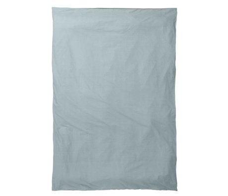 Ferm Living kids Kinderdekbedovertrek Hush dusty blauw katoen 140x200cm