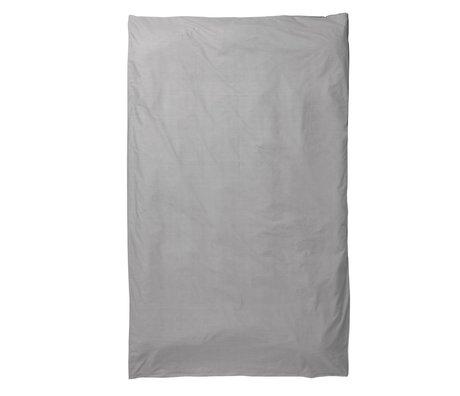 Ferm Living Kinderdekbedovertrek Hush grijs katoen 140x220cm