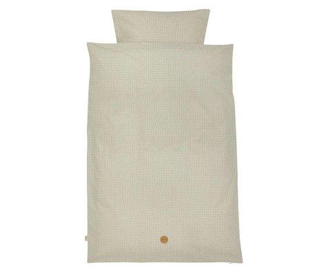 Ferm Living kids Cross Children's Well-gray cotton 100x140cm 46x40cm