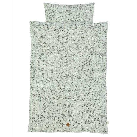 Ferm Living kids Children's Well-Dot mint green cotton 70x100cm 46x40cm