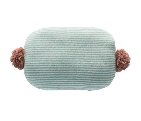 OYOY Sierkussen Bonbon wit blauw roze katoen 45x35cm