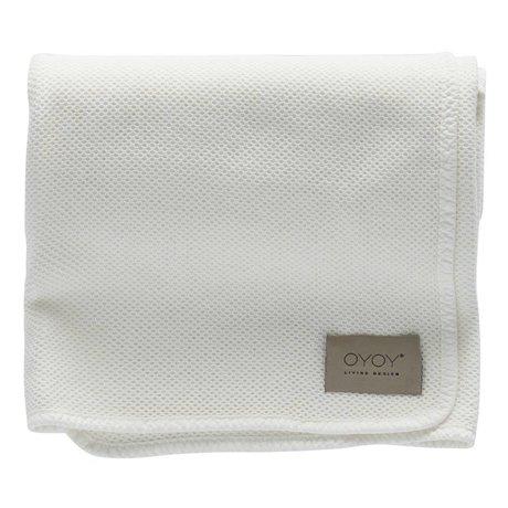 OYOY Baby blanket Bobo white organic cotton 80x100cm