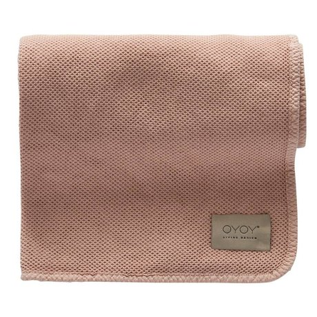 OYOY Baby blanket Bobo light pink organic cotton 80x100cm