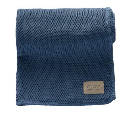 OYOY Bobo blue baby blanket organic cotton 80x100cm