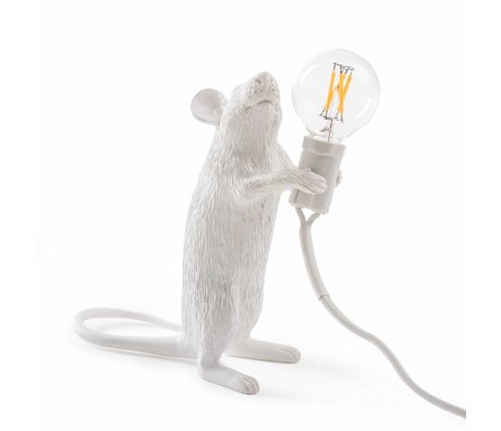 Seletti Table Lamp Mouse white nylon 6,2x8,1x14,5cm