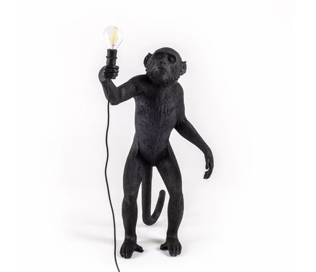 Seletti Table lamp The Monkey black nylon 46x27,5x54cm