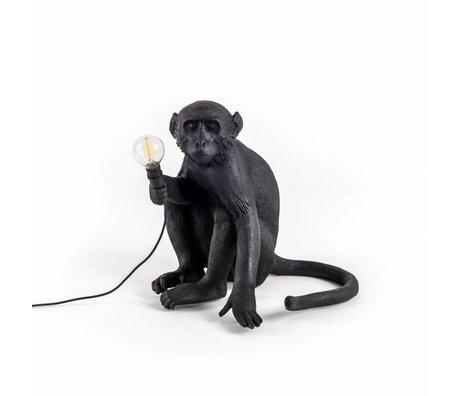 Seletti Tafellamp The Monkey zwart kunsstof 34x30x42cm
