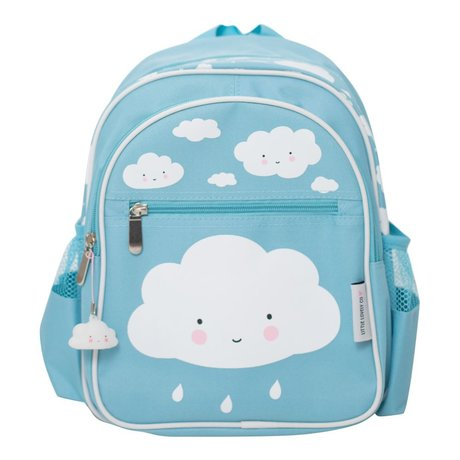A Little Lovely Company Kinder rugzak Blue cloud 25x31,5x15,5cm