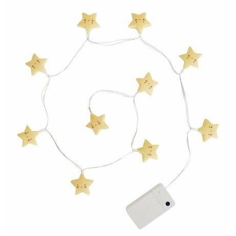 A Little Lovely Company Kinderlichtketting sterren geel kunststof 1,1m