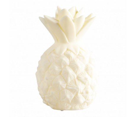 A Little Lovely Company Children's table lamp Pineapple yellow plastic 15cm