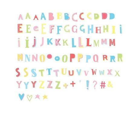 A Little Lovely Company Kinder letters Lightbox Funky kleur kunststof 6,5x7cm