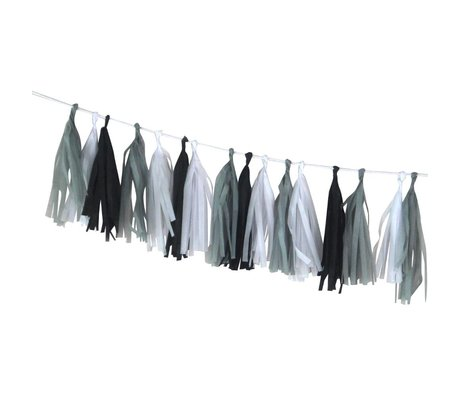 A Little Lovely Company Slinger DIY Tassel Garland Hip multicolour zijdepapier 12x36cm