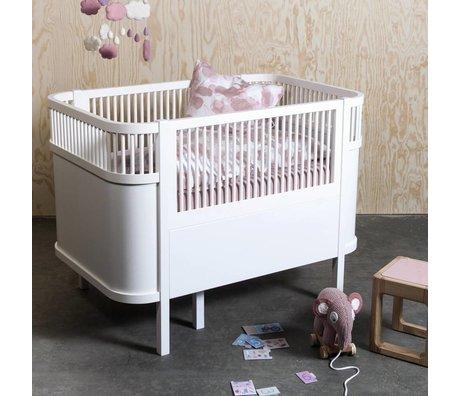 Sebra Meegroeibed Baby & Junior wit hout 112,5-155x70x88cm
