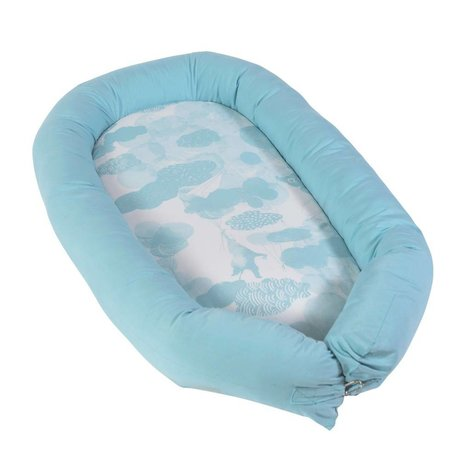 Sebra Babynest In the sky blue cotton 86x49x10cm