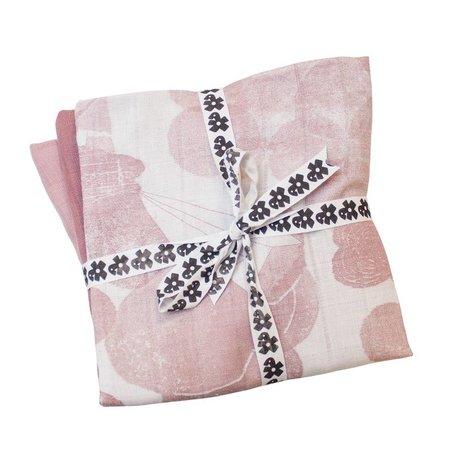 Sebra Hydrofiele doek roze katoen 75x75cm