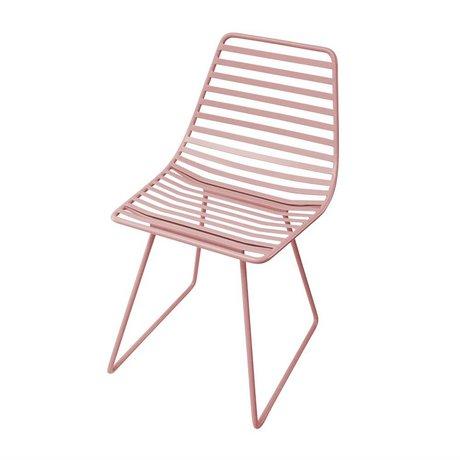 Sebra Kinderstoel roze metaal S 32x58x33cm