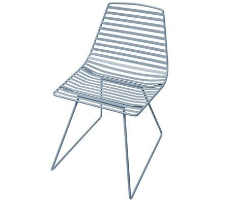 Sebra Kinderstoel blauw metaal L 47x82x48cm