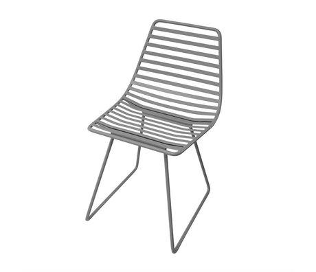 Sebra Kinderstoel grijs metaal S 32x58x33cm