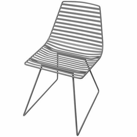 Sebra Kinderstoel grijs metaal L 47x82x48cm