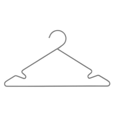 Sebra Kinderkledinghanger 3 stuks grijs metaal 34x18cm